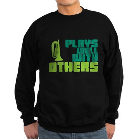 Marching Baritone Plays Well Sweatshirt (dark)