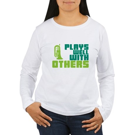 Marching Baritone Plays Well Women's Long Sleeve T