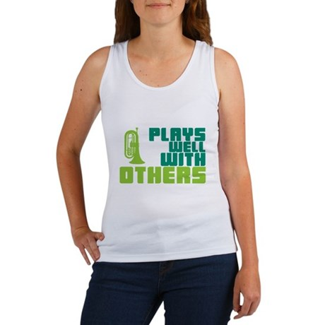 Marching Baritone Plays Well Women's Tank Top
