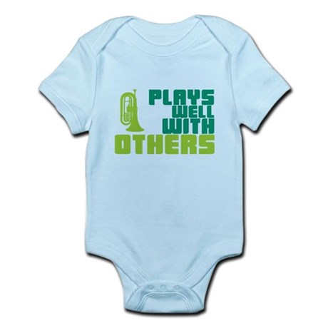 Marching Baritone Plays Well Infant Bodysuit