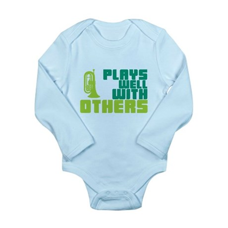 Marching Baritone Plays Well Long Sleeve Infant Bo