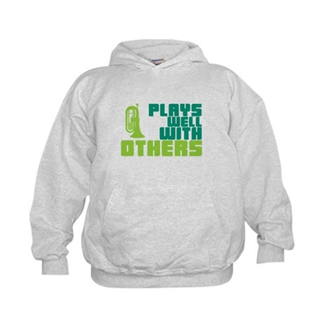 Marching Baritone Plays Well Kids Hoodie
