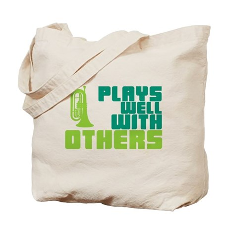Marching Baritone Plays Well Tote Bag