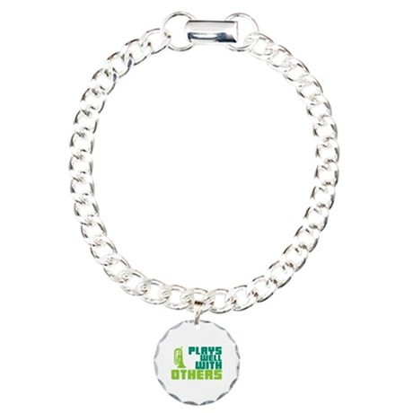 Marching Baritone Plays Well Charm Bracelet, One C
