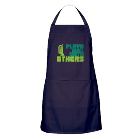 Marching Baritone Plays Well Apron (dark)