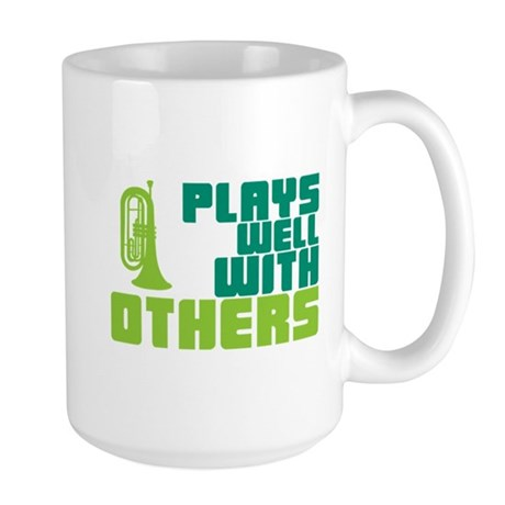 Marching Baritone Plays Well Large Mug