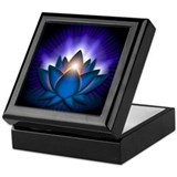"Blue ""Throat"" Chakra Lotus Keepsake Box"
