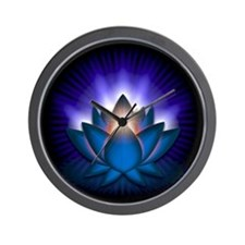 "Blue ""Throat"" Chakra Lotus Wall Clock"