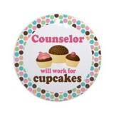 Counselor Will Work For Cupcakes Ornament