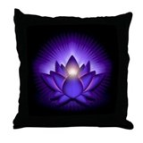 "Purple ""Third Eye"" Chakra Lotus Throw Pillow"