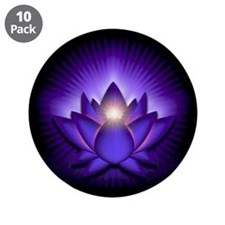 "Purple ""Third Eye"" Chakra Lotus 3.5"" Button (10 pa"