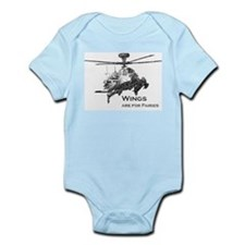 Wings are for Faries AH-64D Infant Bodysuit