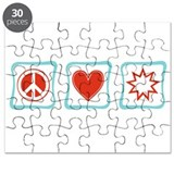 Peace, Love and Baha'i Puzzle