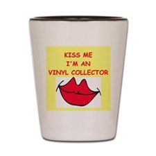 record collector Shot Glass