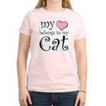 Heart Belongs to Cat Women's Light T-Shirt