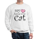 Heart Belongs to Cat Sweatshirt