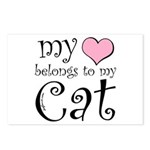 Heart Belongs to Cat Postcards (Package of 8)