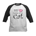 Heart Belongs to Cat Kids Baseball Jersey