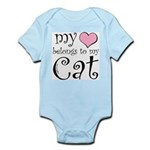 Heart Belongs to Cat Infant Bodysuit