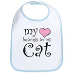 Heart Belongs to Cat Bib