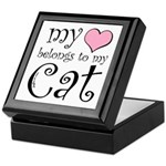 Heart Belongs to Cat Keepsake Box