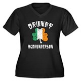 Irish Drunky Women's Plus Size V-Neck Dark T-Shirt