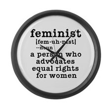 Feminist Definition Large Wall Clock