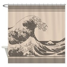 The Great Wave Designer Shower Curtain