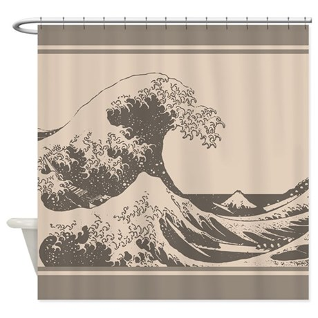 Waves of Flames Shower Curtain by acertaincurtain