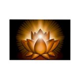 "Orange ""Sacral"" Chakra Lotus Rectangle Magnet (10"