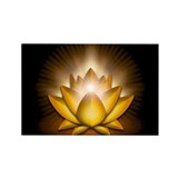 "Yellow ""Solar Plexus"" Chakra Lotus Rectangle Magne"