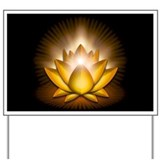 "Yellow ""Solar Plexus"" Chakra Lotus Yard Sign"