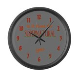 Time For Supernatural? Large Wall Clock