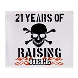 21 Years of Raising Hell Throw Blanket