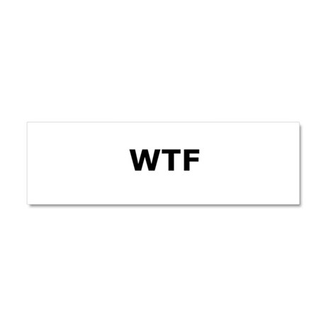 WTF Car Magnet 10 x 3