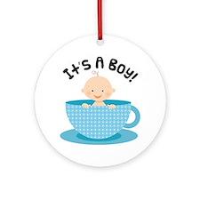 It's A Boy Teacup Baby Keepsake Ornament