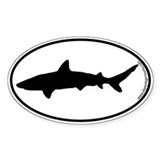 Shark SILHOUETTE Oval Decal