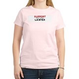 Support:  LAWYER Women's Pink T-Shirt