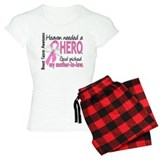 Heaven Needed a Hero Breast Cancer pajamas