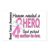 Heaven Needed a Hero Breast Cancer Postcards (Pack