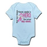Heaven Needed a Hero Breast Cancer  Baby Onesie