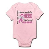 Heaven Needed a Hero Breast Cancer Infant Bodysuit