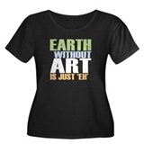 Earth Without Art Women's Plus Size Scoop Neck Dar