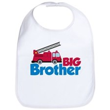 Fire Engine Big Brother Bib