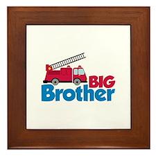 Fire Engine Big Brother Framed Tile