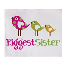 Tweet Birds Biggest Sister Throw Blanket