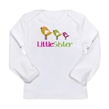 Tweet Birds Little Sister Long Sleeve Infant T-Shi