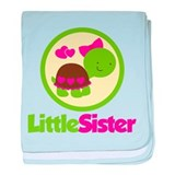Turtle Little Sister baby blanket