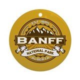 Banff Natl Park Goldenrod Ornament (Round)