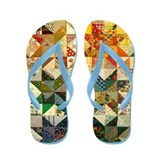 Fun Patchwork Quilt Flip Flops